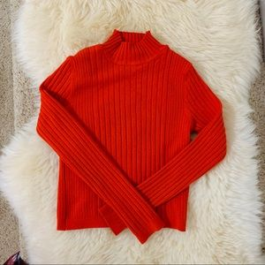 Urban outfitters red cropped sweater, size M